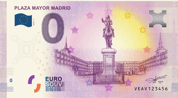 Billete Eurosouvenir Plaza Mayor de Madrid 2019