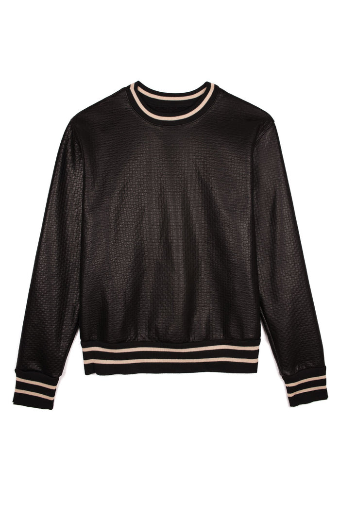 Leather Crewneck