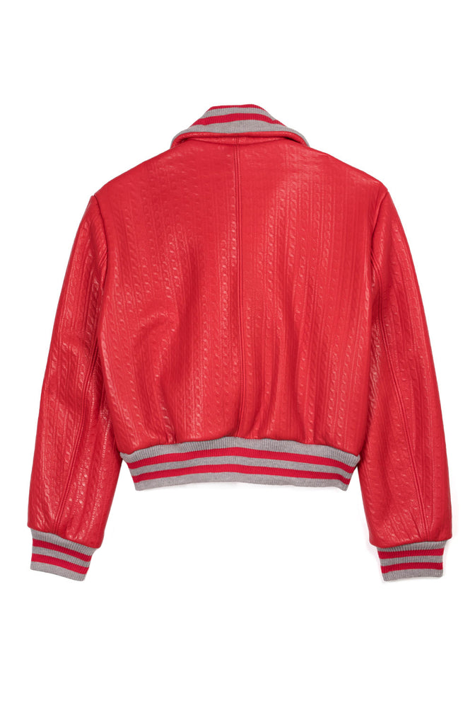 Women's Flight Jacket Tricot Leather