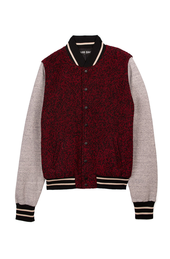 Unisex Varsity Jacket w/ Leather Sleeves