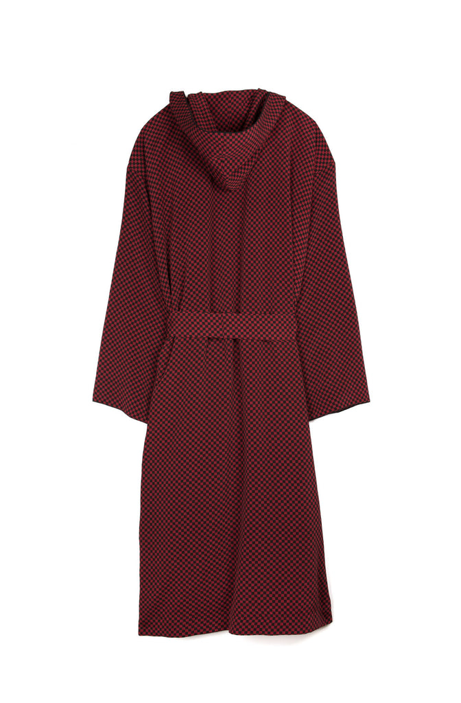 Hooded Check Robe