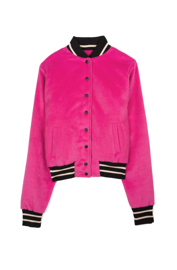Women's Cropped Varsity Jacket