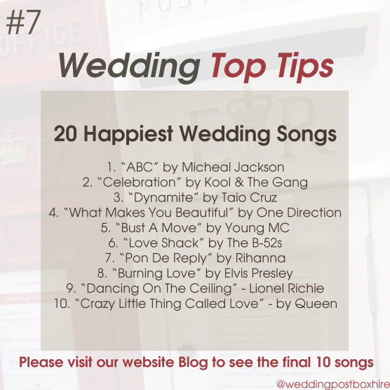 Our 20 Happiest Wedding Songs