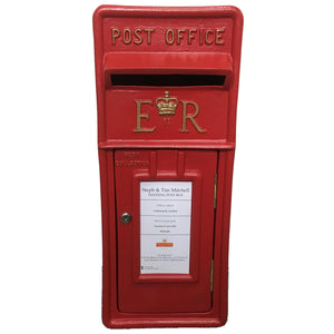 Red and Gold Royal Mail Wedding Post Box Hire