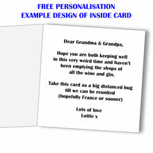 Charity Fundraiser - Personalised Funny Lockdown Self Isolation Card