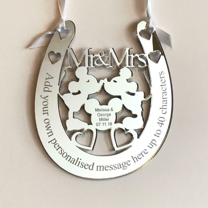 Personalised Wedding Mr & Mrs Horseshoe Gift