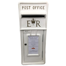 White and Gold Royal Mail Wedding Post Box Hire