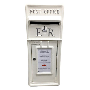 White and Silver Royal Mail Wedding Post Box Hire