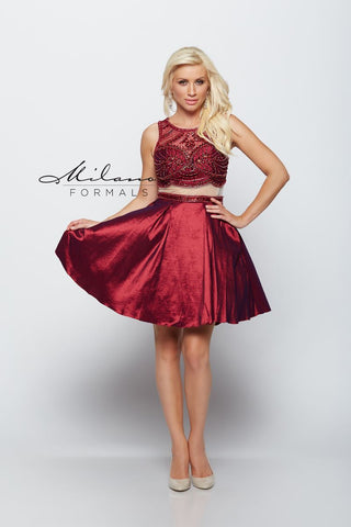 Milano Formals E2027 2 In 1 Short Prom Dress
