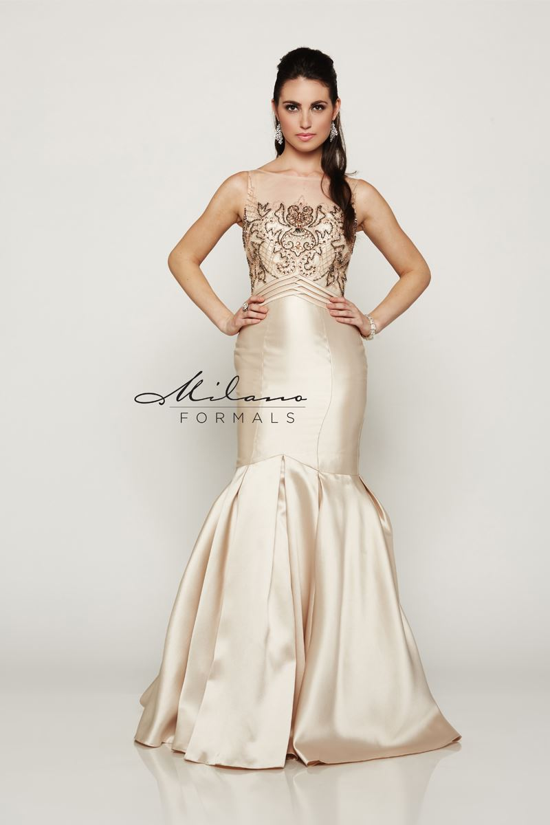 Milano Formals E1989 Fitted Long Mermaid Dress