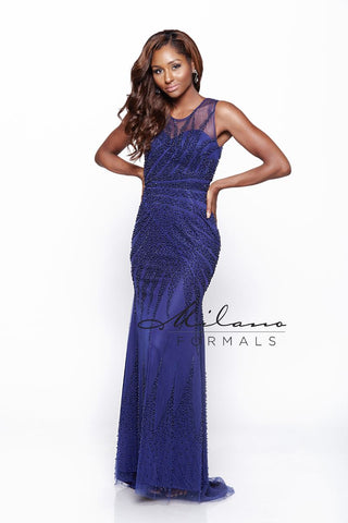 Milano Formals E2010 Long Fitted Prom Dress