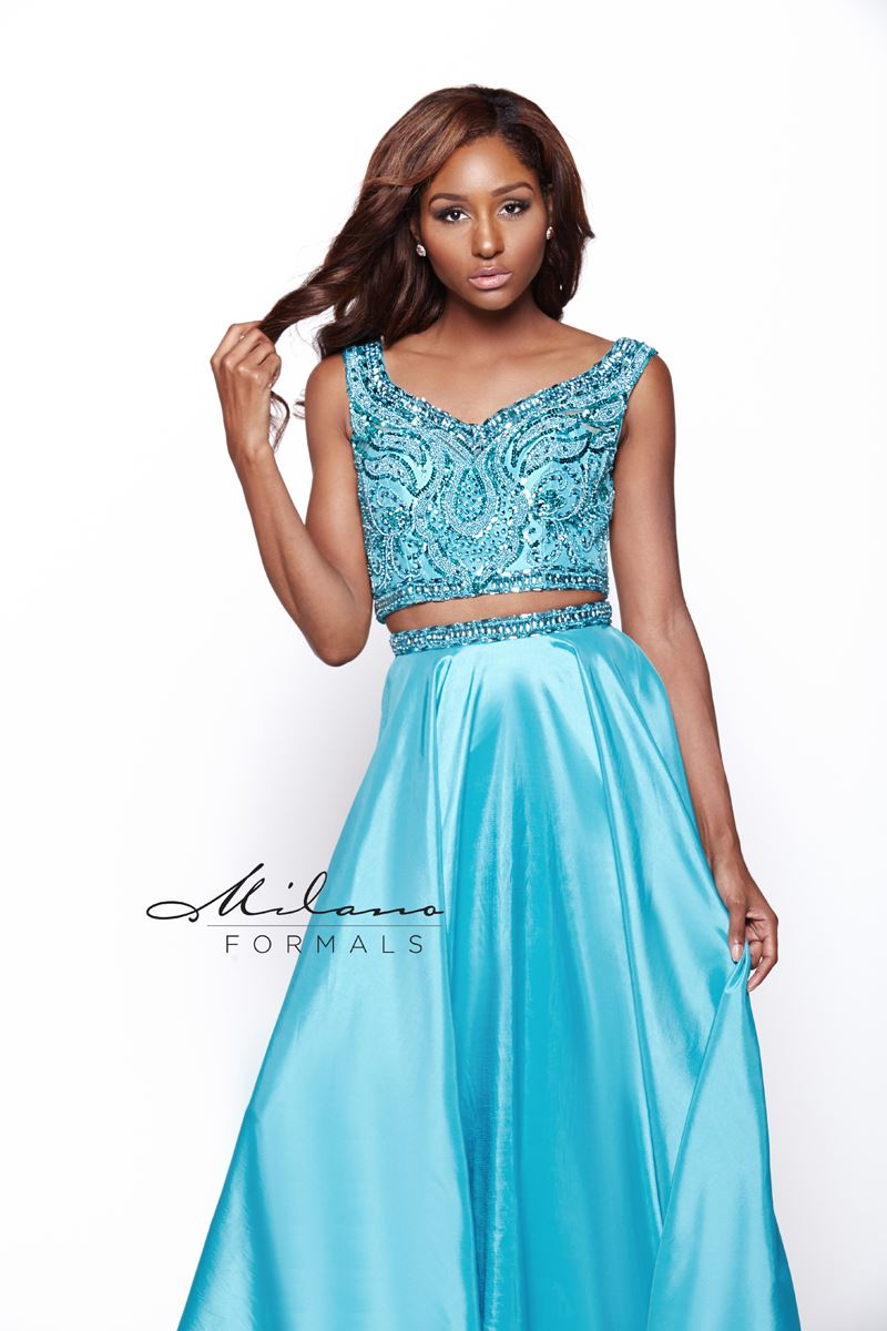 Milano Formals E2020 2 In 1 Long Prom Dress