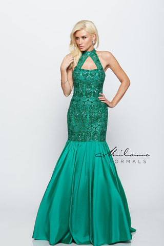 Milano Formals E2145 Long Mermaid Dress