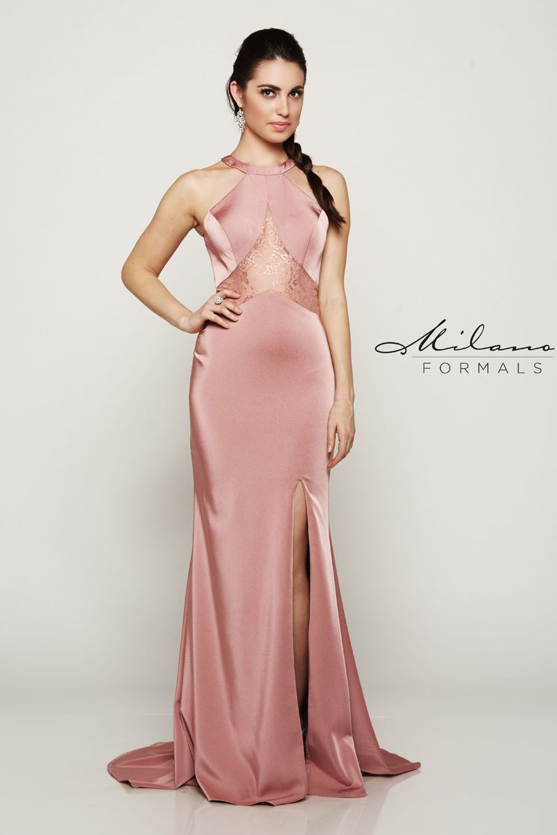 Milano Formals E2043 Long Floor-Touch Prom Dress