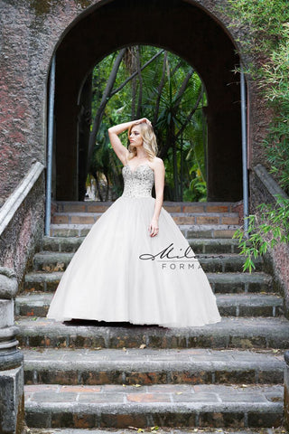 Milano Formals E2169 Strapless Ball Gown