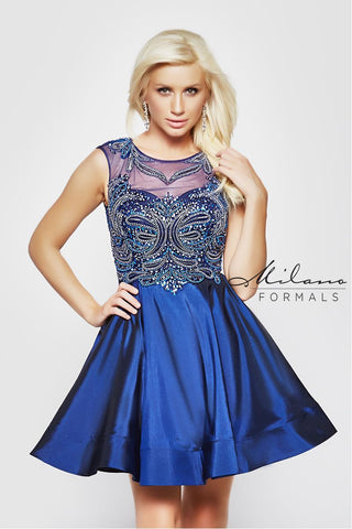 Milano Formals E1999 Short Midnight Prom Dress