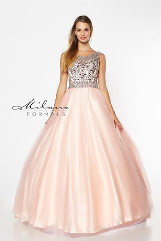 Milano Formals E2180 Long Ball Gown