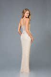 Scala 48940 Designing High Slit Long Dress