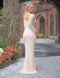 Primavera Couture 3173 Deep Neckline Long Gown