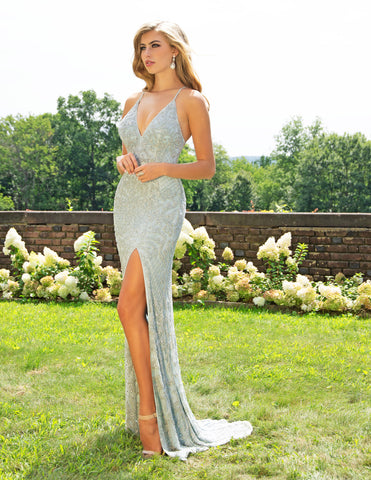 Primavera Couture 3214 High Slit Long Gown