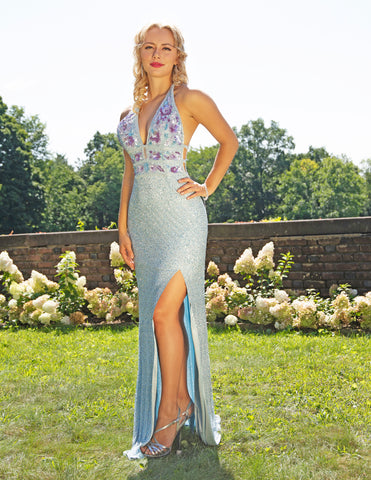 Primavera Couture 3216 V-Neckline Long Gown