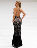 Primavera Couture 3221 Crisscross open Back-Sided Embellish Gown