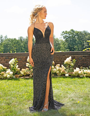 Primavera Couture 3235 High Slit Floor-Touch Long Gown