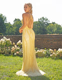 Primavera Couture 3236 Stylish Crisscross Back-Sided Long Gown