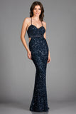 Scala 48912 Crisscross Back-Sided Evening Dress