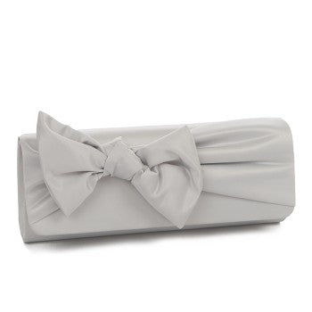 Satin Fabric Bow Clutch Bag 50148