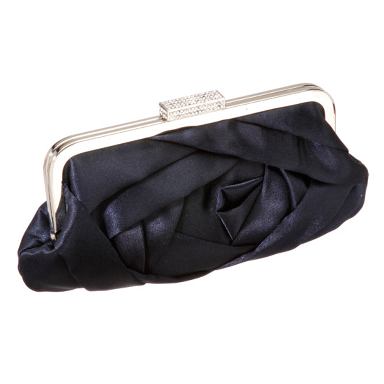 Intricate Pleated Satin Clutch Purse 50330