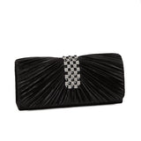 Ashley 60487 Rhinestone Pleated Handbag