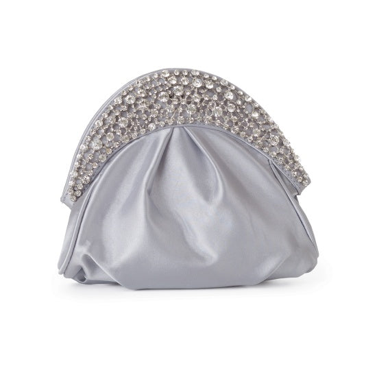 Bejeweled 80489 Half-moon Shaped Clutch Bag