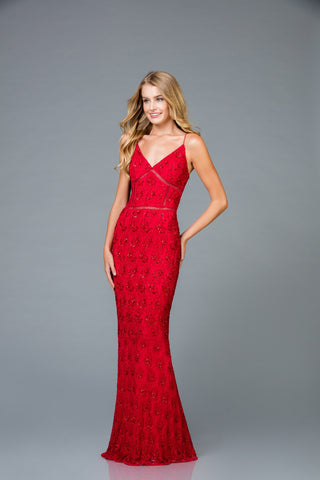 Scala 48960 Formal Highlighted Long Dress