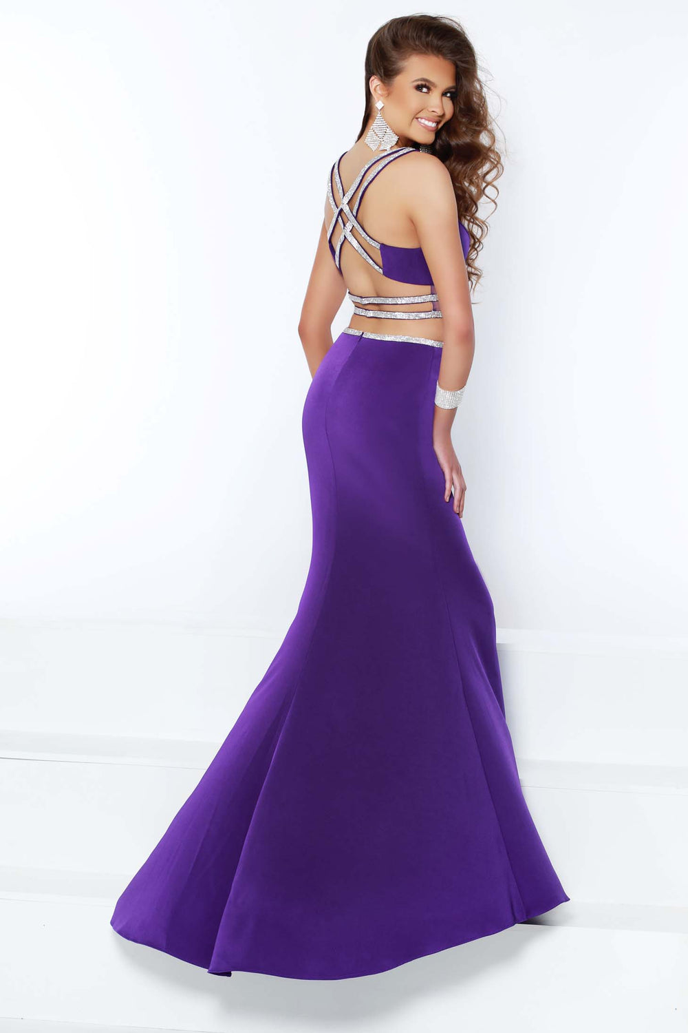 2Cute 91410 2 In 1 V-Neckline Designing Prom Dress