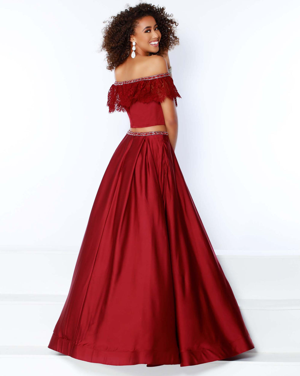 2Cute 91455 Two Pieces Off-The-Shoulder Long Prom Dress