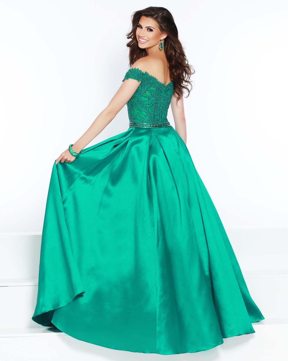2Cute 91473 Off-The-Shoulder Long Ball Gown