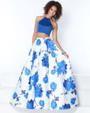2Cute 91500 2 In 1 Strapless High-Neck Prom Dress
