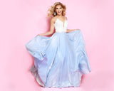 2Cute 91510 Long Deep Neckline Floral Ball Gown