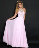 2Cute 91513 Long Chiffon High-Neck Prom Dress