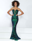 2Cute 91527 Fitted Strapless Long Prom Dress