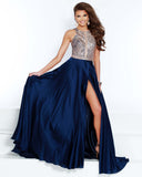 2Cute 91540 High-Neckline High Slit Prom Dress