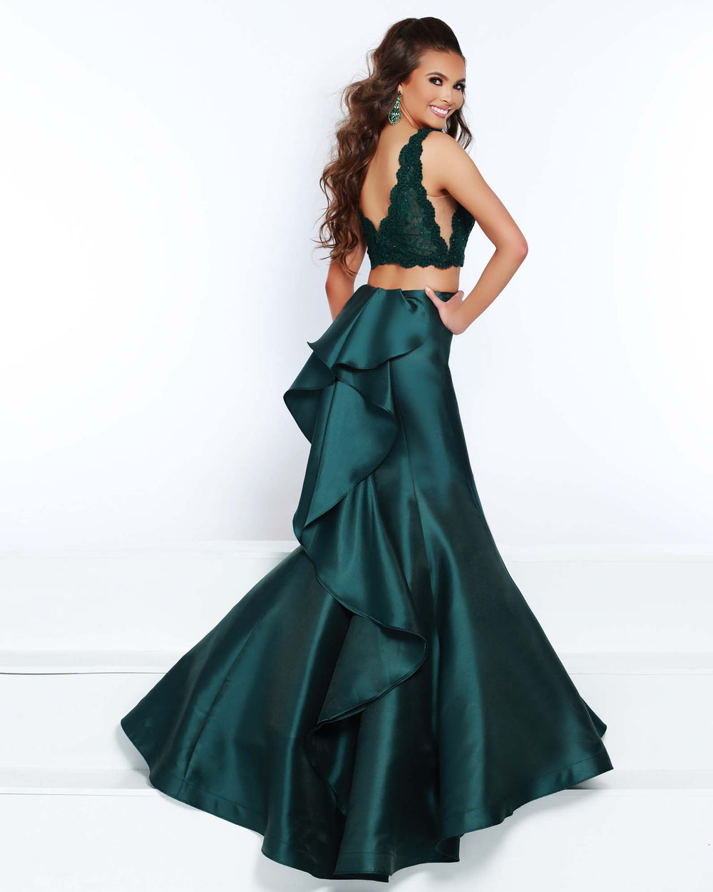 2Cute 91547 Two Pieces Long Mermaid Prom Dress