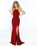 2Cute 91549 High Slit Cutout Bodice Prom Gown