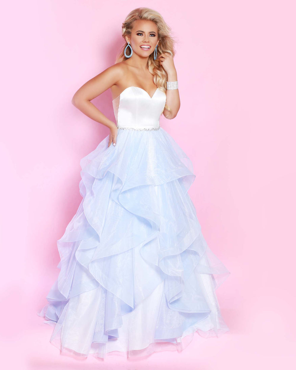 2Cute 91553 Long Strapless Prom Dress