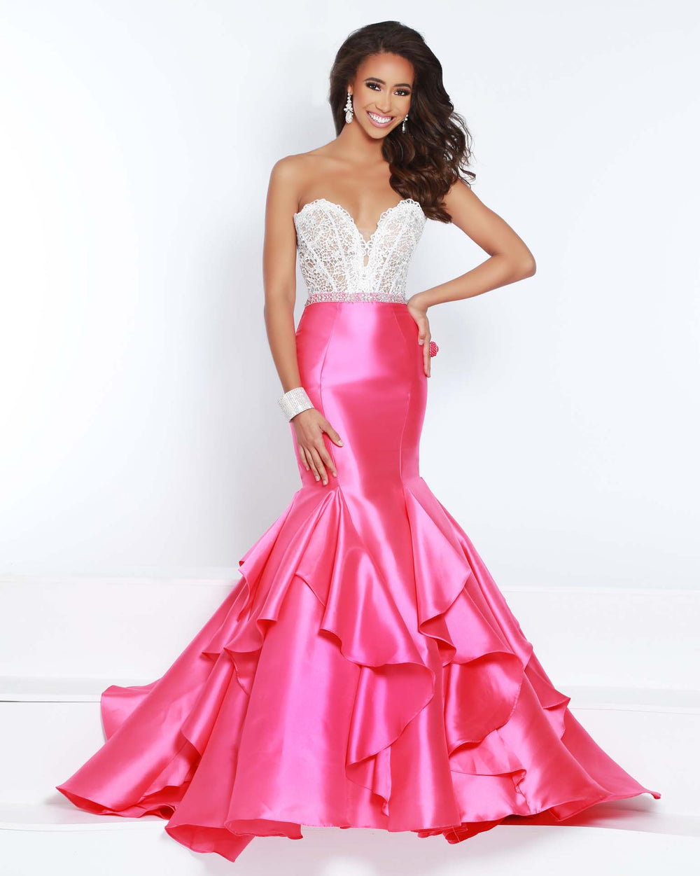 2Cute 91554 Strapless Fitted Long Mermaid Dress