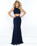 2Cute 91557 2 In 1 Long Back High Slit Prom Dress