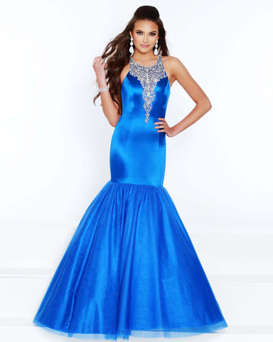 2Cute 91584 Long High neckline Mermaid Prom Dress