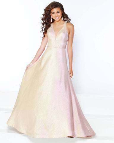 2Cute 91591 Long Formal Crisscross Prom Dress