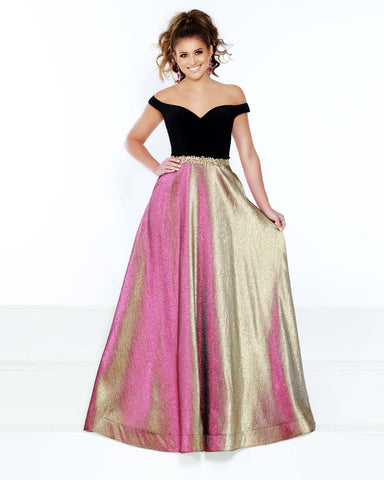 2Cute 91604 Off-The-Shoulder A-Neckline Prom Dress